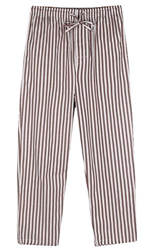 Icegrey Herren Lange Gestreifte Pyjamahose Schlafanzughose Baumwolle Nachtwäsche XL