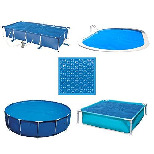 Linxor France ® Bâche à bulles ronde, ovale, carrée ou rectangle 180 microns pour piscine intex ou autre. / 29 tailles diponibles/Norme CE