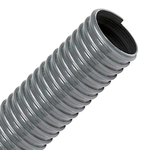 FLEXTUBE PVC-L 25mm (1 Zoll), Länge 25m - leichter, hoch flexibler Saugschlauch, Spiralschlauch aus PVC, Schlauch für Wasser, Luft, Pulver, Sägemehl, Späne