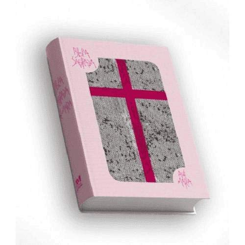 Bíblia Sagrada - Capa Rosa com Lantejoula