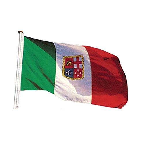 Bandiera italiana Bandierina Marino Militare Navale 30x45 mm Nautica Per gommoni