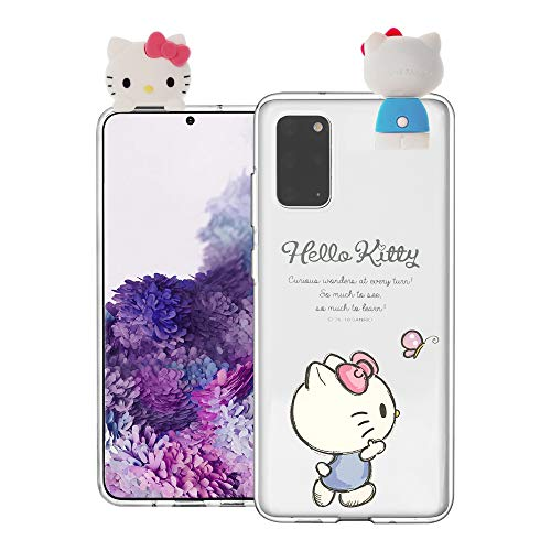 Compatible with Galaxy S20 Ultra Case (6.9inch) Hello Kitty Cute Figure Doll Soft Jelly Cover for - Figure Hello Kitty Walking