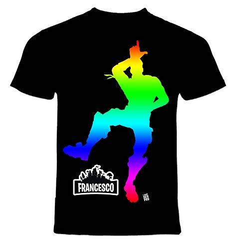 T-Shirt Skin PRO' Scegli Il Tuo Stile. Seleziona Il Ballo Che preferisci e personalizza ►Gratis◄ la t-Shirt con Il Nome Che Vuoi. (13-14 Anni, Nera - You Lose Color)