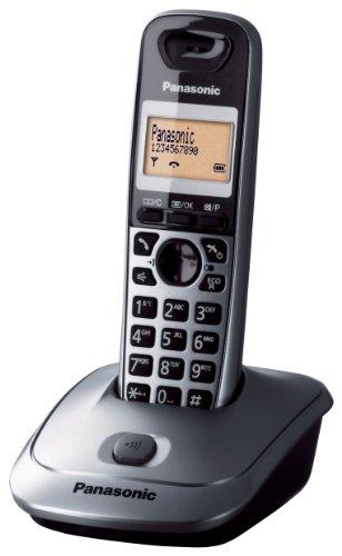 Panasonic KX-TG2511JTM Telefono Cordless DECT Quality Premium, Rubrica da 50 voci, Antracite Metal