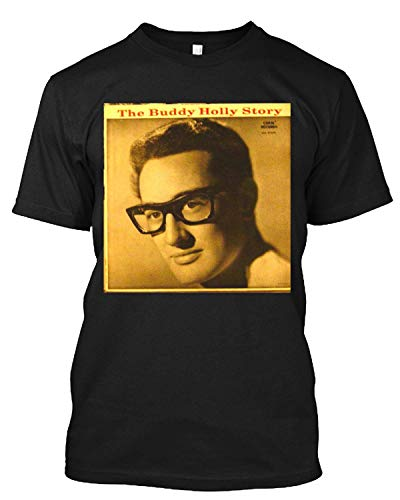The Buddy Holly Story Crickets Rockabilly T - Camiseta para hombre y mujer negro XL