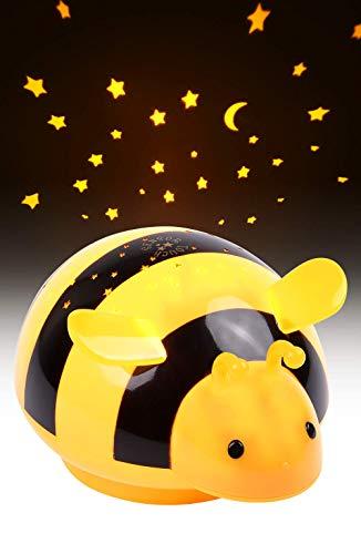 HEITECH LED Sternenhimmel Projektor Biene - LED Nachtlicht mit Farbspiel & Touch Sensor - Einschlafhilfe mit Sternenlicht für Baby & Kind - Sternenlampe für das Babyzimmer & Kinderzimmer