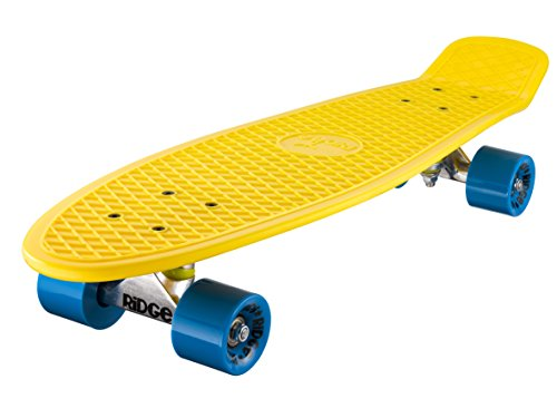 Ridge Skateboard Big Brother Nickel 69 cm Mini Cruiser, gelb/blau