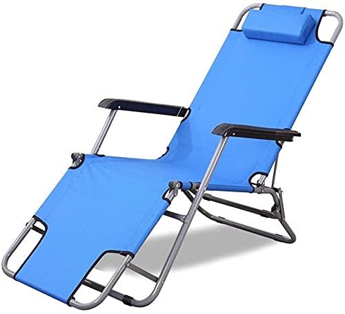 Tumbona plegable reclinable Sillón de lona de acero Sillón reclinable Tumbona de...