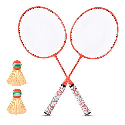Badminton Racket Set, met Ijzerlegering Badminton Racket Kleuren Opties Badminton Set