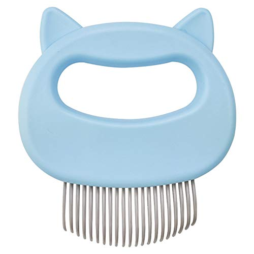 xlpace Relaxing Cat Comb Massager Pet Brush Dog Hair Removal Open Knot Massage Comb