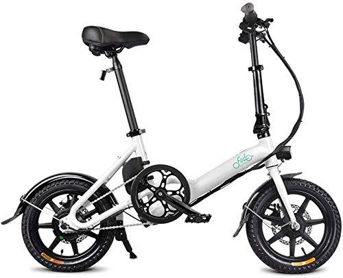 Bicicleta eléctrica Bicicleta eléctrica por la mon Bicicletas eléctricas rápidas for adultos de 14 pulgadas bicicleta plegable eléctrica con 250W 36V / 7.8AH de iones de litio - 3 Gear Electric Power