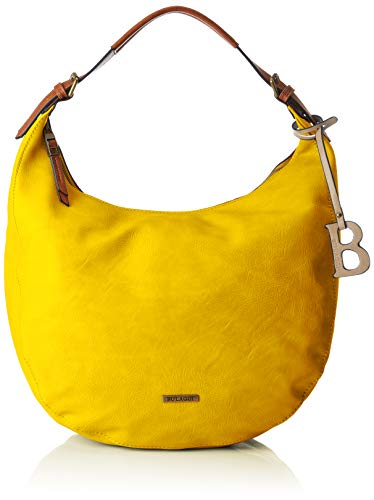 Bulaggi Damen Bowie Hobo Schultertasche, Gelb (Gelb), 15x40x25 cm