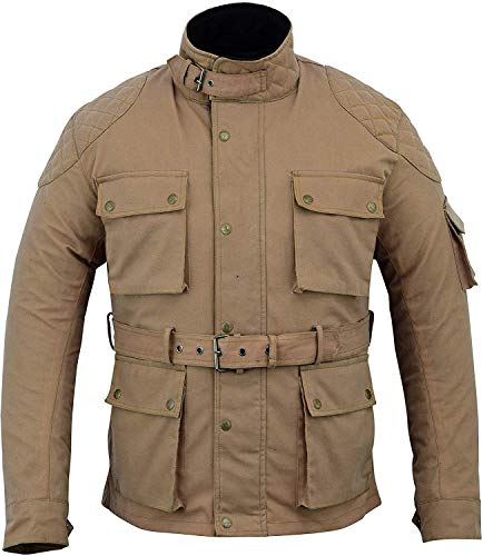 Motorcycle Motorbike Waterproof Lined Armoured Rain Original Classical Short Waist Wax Jacket Men/'s Bikers Cotton Waxed Jacket