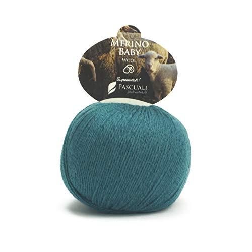 50 g Pascuali Merino Baby | 100% Schurwolle (Merino Superfine, Mulesing frei) Superwash, Farbe:Petrol 25