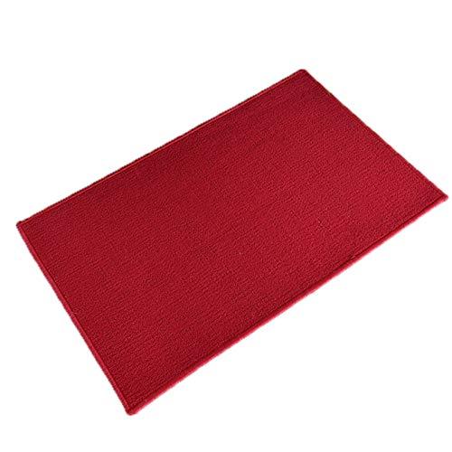 Teppich Eingang Fußmat Home Teppich Küche Fuß Pad Schlafzimmer Wohnzimmer Saal Teppichschloss Rand Wasseraufnahme Rennstütige Matten (Farbe : Red1, Größe : 50X80CM)