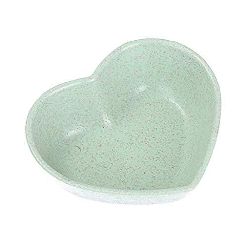 YUTRD ZCJUX Mini Lindo Amor Forma corazón Trigo tazón de Paja vinagre condimento sólido Soja Plato Plato Sal de Sal Snack Pequeño Plato Cocina Suministros (Color : A)