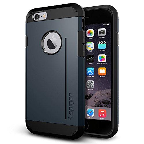 『【Spigen】 iPhone6 ケース, [ 米軍MIL規格取得 衝撃 吸収 パターン 加工 ] タフ・アーマー アイフォン 6 用 耐衝撃 カバー』の2枚目の画像