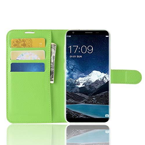 TenYll Oukitel K5 Wallet Tasche Hülle, PU Schutzhülle [Premium Leder] [Ultra Slim] [Card Slot] [Ständer] Flip Wallet Hülle Etui für Oukitel K5 -Grün