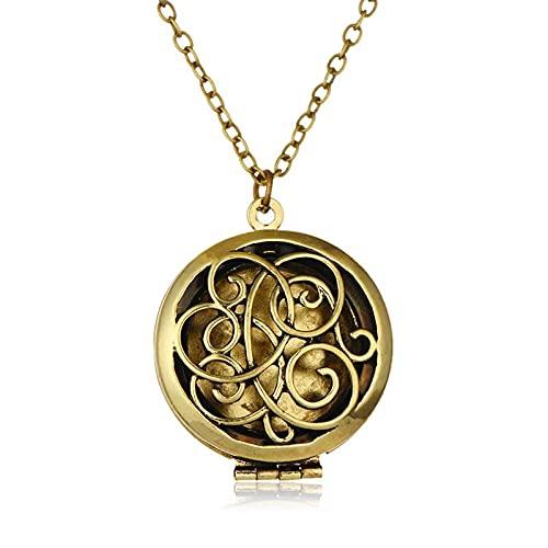 Ymxcwer85851 Collar de Fragancia Colgante dispensador de Perfume para Mujer con Almohadillas perfumadas