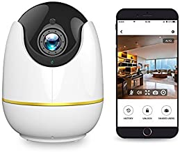 Baby Camera - 720P Home Camera with Two-Way Audio, Baby Monitor, FHD Night Vision, Motion Detection, Compatible with Alexa Echo Show, Cloud Storage, Pet Camera, Indoor Camera