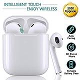 Bluetooth Kopfhörer 5.0, Funk In-Ear-Ohrhörer, Sport-3D-Stereo-Kopfhörer, wasserdichtem IPX5,mit Portable Mini Ladekästchen und Integriertem Mikrofon, für Apple Airpods Android iPhone Huawei(Weiß)