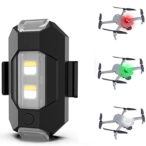 HAOXUAN Luz para Drones, luz anticolisión Luz LED RGB, 3 Colores Universal, Adecuada para dji Mini 2 / Air 2S / Mavic Air 2 / Mavic 2 Pro/Mavic Mini/FPV/Phantom Any Drone Luz LED de Flash para Drones
