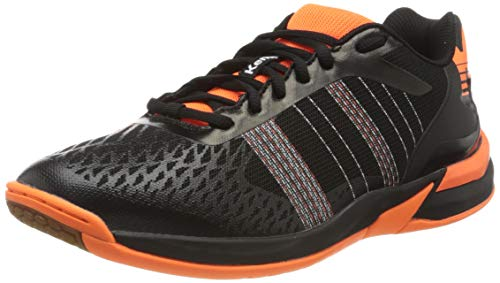 Kempa Attack Contender, Chaussures de Handball Homme, Multicolore Schwarz Fluo Orange 07, 36 EU