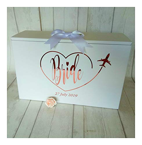 Wedding Dress Travel Box Bride Plane - Cabin Size Personalised Airline Hand Luggage