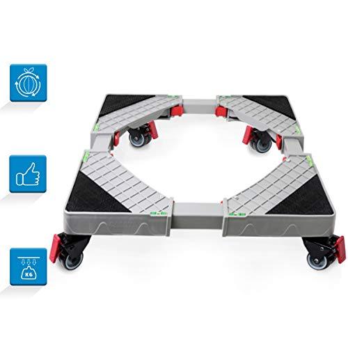 Grandekor Base Lavatrice Asciugatrice Frigorifero Universale Regolabile Mobile Base con 4×2 Gomma Ruote Per Grandi Elettrodomestici