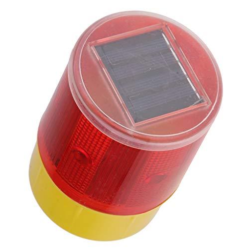 SDENSHI Luz Estroboscópica Solar para Coche, Alarma de Advertencia de Emergencia, LED, Baliza, Luces de Seguridad - Rojo + Amarillo js-04