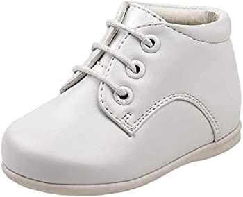 Josmo Baby Boy s First Steps Walking Dress Shoe  Infant Toddler   8 Toddler White Smooth