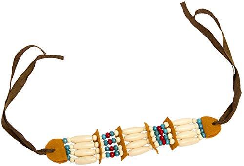 Folat 22046 Indianer Halskette mit Perlen und Schleife
