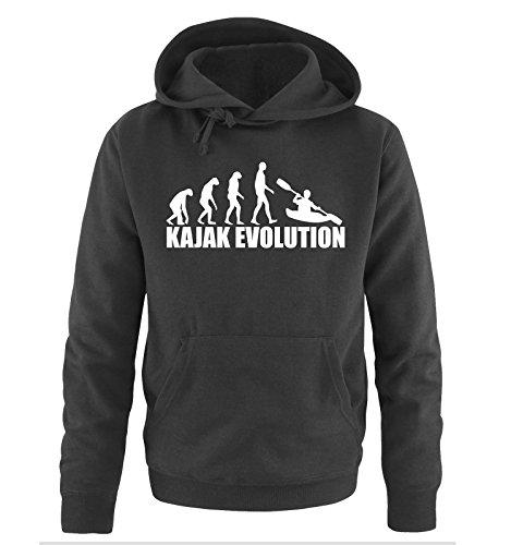 Comedy Shirts KAJAK Evolution Sweat à capuche pour homme - - XL
