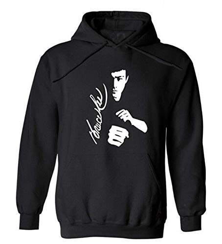 Bruce Lee Chinse Hodie Pulover Fleee to Kep WAM Sweashirt Uniex Outerwar Sprts Mens Tred Hoded
