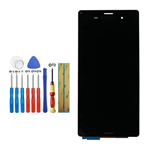 Tangzhi LCD Display Kompatibel mit Sony Xperia Z3 D6603 D6643 D6653 L55u L55t Touch Screen Digitizer Glass Schwarz with Tools