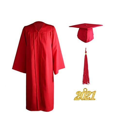 Vestido De Graduación, Juego De Gorra Y Borla De Graduación Mate Unisex Para Adultos Para La Escuela Secundaria Y La Ceremonia De Licenciatura, Traje De Graduación Unisex Ceremonioso Con Amuleto Del