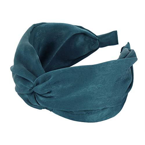 EUCoo Femmes Filles Serre Tete Femme Noeud Retro Bandeau Cheveux Serre-tête en tissu torsadé pour Style rétro Couleur unie