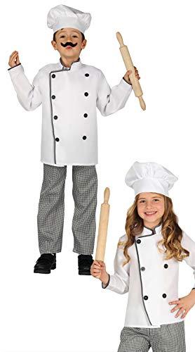 FIESTAS GUIRCA Disfraz Cocinero Chef Infantil niña Talla 5-6 años