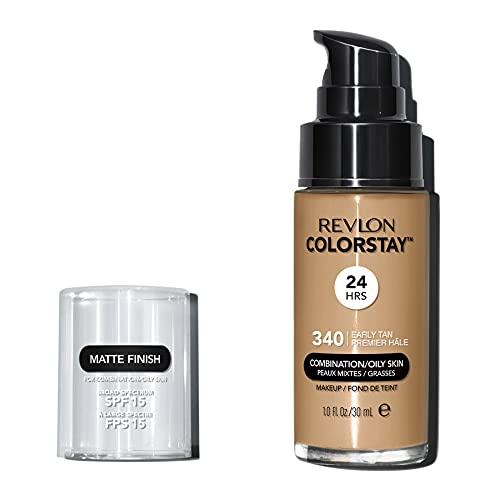 Revlon ColorStay Base de Maquillaje piel mixta/grasa FPS15 30ml, #340 Early Tan
