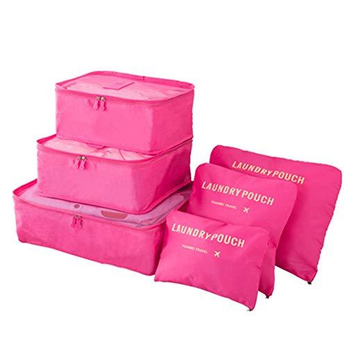 Organizador de Equipaje Impermeable Conjunto de 6 piezas Bolsas de almacenamiento de...