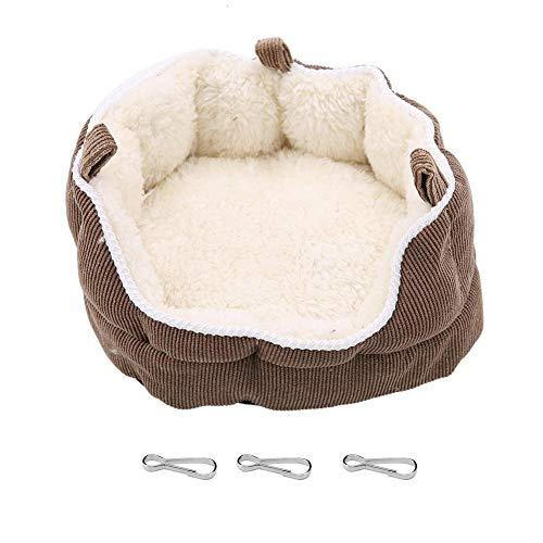 Cama colgante para mascotas, hamaca extraíble y lavable para hamster y otros pequeños animales Invierno cálido nido Sofás y sillas(café)