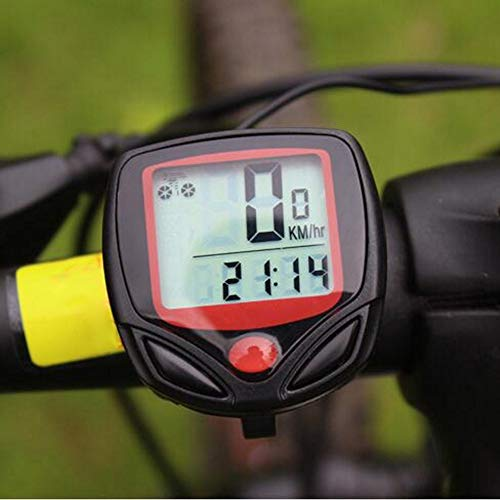 DZAER Tachometer Fahrrad Fahrrad wasserdichte Computerreiten Tachometer Kilometerzähler Digital LCD Display Outdoor Training Werkzeug