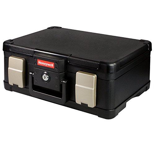 Feuerfeste Wasserdichte Dokumentenbox Geldkassette 40,7 x 32,0 x 16,6 cm, schwarz, DIN A4
