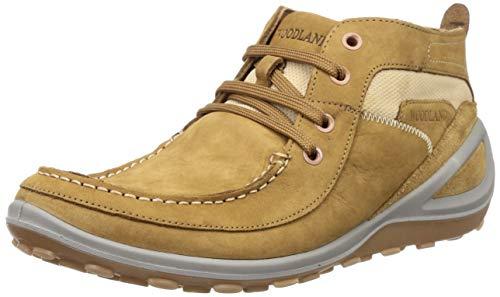 Woodland Men's Camel Leather Trekking Boots - (8 UK)