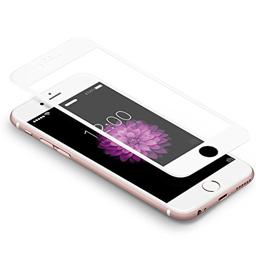 Coolreall Pellicole Protettive Compatible per iPhone 6 Plus/6s Plus, [3D Full Coverage] Vetro Temperato Screen Protector Compatibile per iPhone 6 Plus (5.5 Pollici)- [9H Durezza,3D Touch] Bianco