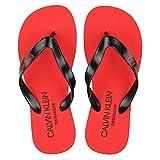 CALVIN KLEIN Swimwear Calvin Klein Swimwear ciabbatta Infradito uomo nera con Suola in Gomma Rossa e Logo KM0KM00634 Nero 41
