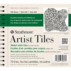 Strathmore (3-Pack) Artist Tiles 6 inch x 6 inch 70 Pack Recycled Sketch 62105975