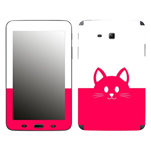'Disagu SF 105977_ 1018Designer Skin Case Cover For Samsung Galaxy Tab 3Lite SM-T110–Kawaii Cat Face Pink Clear
