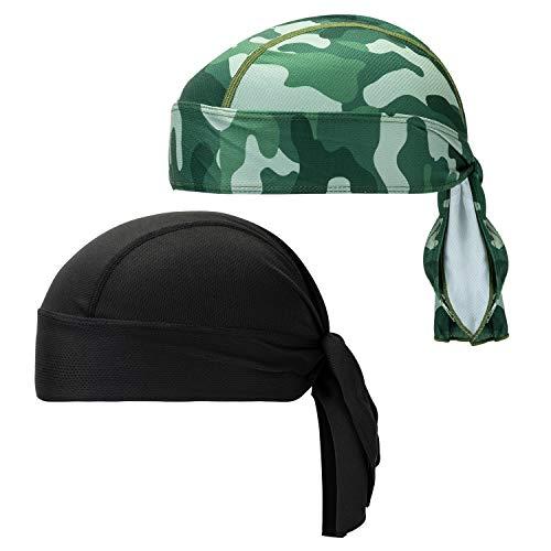 CICMOD Bandana Cap Sport Outdoor Fahrrad Kopftuch Atmungsaktive Kopfbedeckung Bandanas Kopftuch 2 Pack
