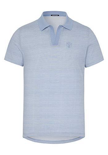 Chiemsee Herren Poloshirt, L Blue/Wht STR, S